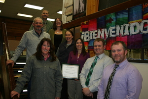 Ennis Schools Receives Workplace Safety Award