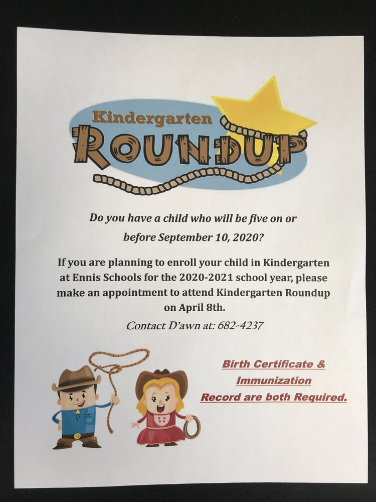 Kindergarten Roundup April 8th