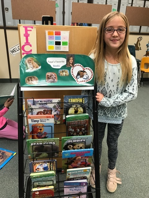 Library spotlight showcasing Taya Keller's favorite books.