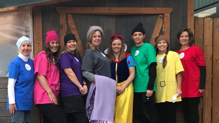 Snow White and the Seven Dwarves paid the Elementary a visit for Halloween