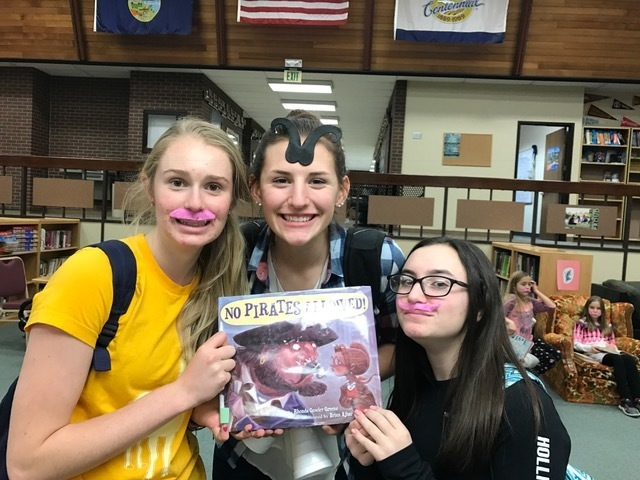 Mustache fun in the library!