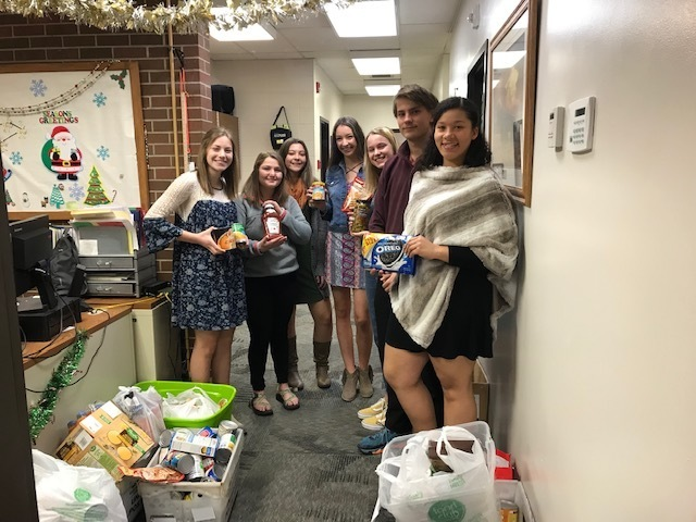 High School Student Council Food Drive