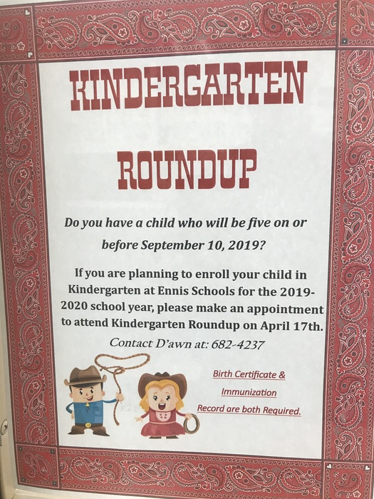 Kindy Roundup Flier
