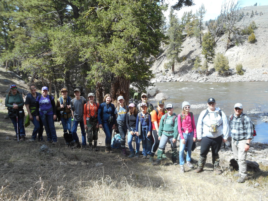 Group picture at the Lamar River